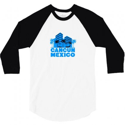 Cancun Mexico! 3/4 Sleeve Shirt Designed By Irvandwi2