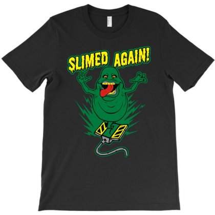 Slimed Again T-shirt Designed By Denz