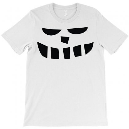 Smiling Teeth Pumpkin Face T-shirt Designed By Denz