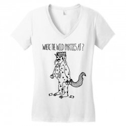 where the wild parties at Women's V-Neck T-Shirt | Artistshot