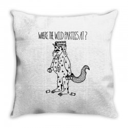 where the wild parties at Throw Pillow | Artistshot