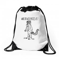where the wild parties at Drawstring Bags | Artistshot