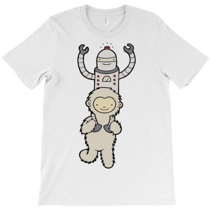Yeti & Robot T-shirt Designed By Irvandwi2