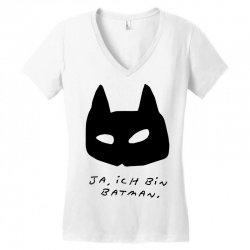 yes i am Women's V-Neck T-Shirt   Artistshot