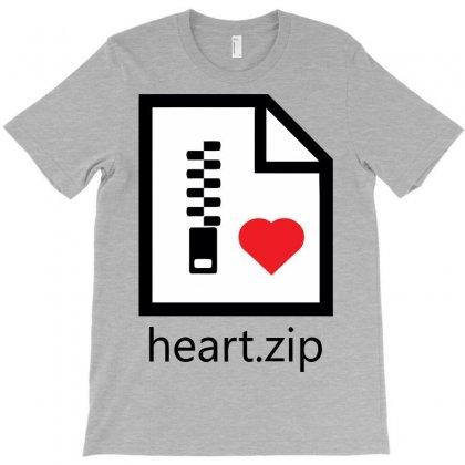 Zipped Heart T-shirt Designed By Irvandwi2