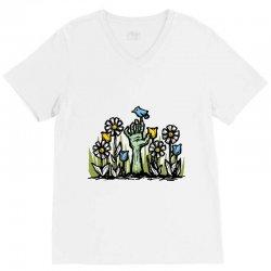 zombie garden V-Neck Tee | Artistshot