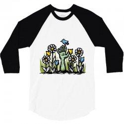 zombie garden 3/4 Sleeve Shirt | Artistshot