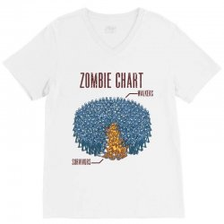 zombie chart V-Neck Tee | Artistshot