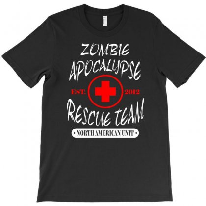 Zombie Apocalypse Rescue Team T Shirt The Walking Zombies Tee Funny De T-shirt Designed By Irvandwi2