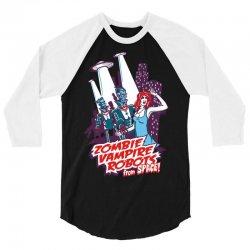 zombie vampire robots from space 3/4 Sleeve Shirt | Artistshot