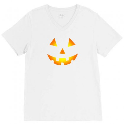 Halloween V-neck Tee Designed By Mdk Art