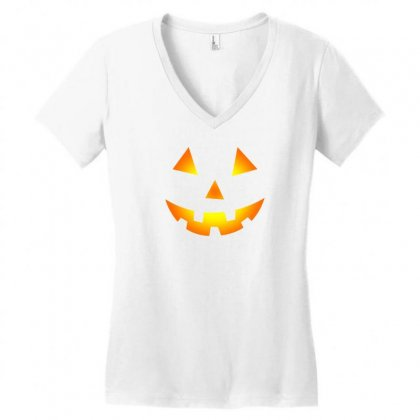 Halloween Women's V-neck T-shirt Designed By Mdk Art