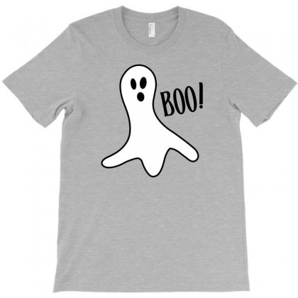 Halloween Ghost Boo Cute Costume Trick Or T-shirt Designed By Mdk Art