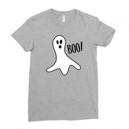 Halloween Ghost Boo Cute Costume Trick Or Ladies Fitted T-shirt Designed By Mdk Art