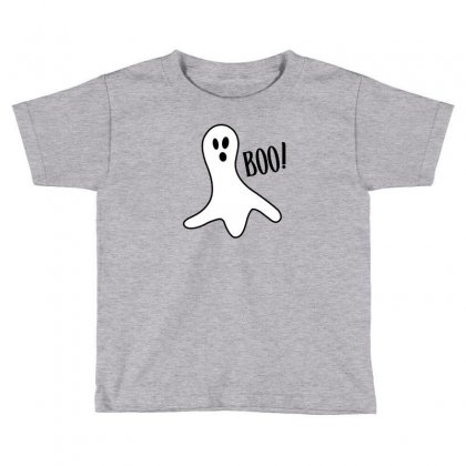 Halloween Ghost Boo Cute Costume Trick Or Toddler T-shirt Designed By Mdk Art
