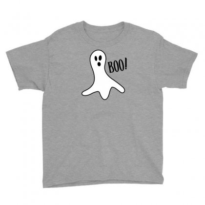 Halloween Ghost Boo Cute Costume Trick Or Youth Tee Designed By Mdk Art
