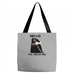 hello yes this is dog telephone phone Tote Bags | Artistshot