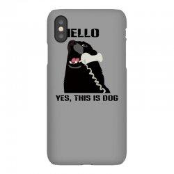 hello yes this is dog telephone phone iPhoneX Case | Artistshot