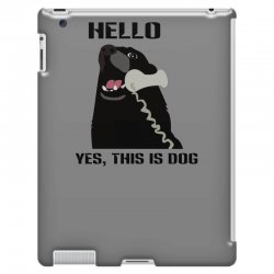 hello yes this is dog telephone phone iPad 3 and 4 Case | Artistshot