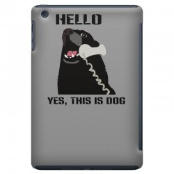 hello yes this is dog telephone phone iPad Mini Case | Artistshot