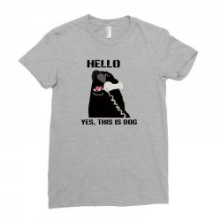 hello yes this is dog telephone phone Ladies Fitted T-Shirt | Artistshot