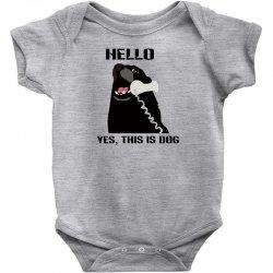 hello yes this is dog telephone phone Baby Bodysuit | Artistshot
