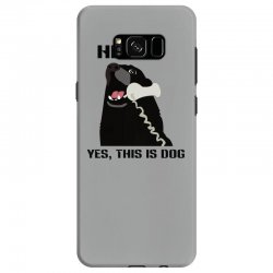 hello yes this is dog telephone phone Samsung Galaxy S8 Case | Artistshot