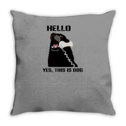 hello yes this is dog telephone phone Throw Pillow | Artistshot
