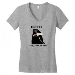 hello yes this is dog telephone phone Women's V-Neck T-Shirt | Artistshot