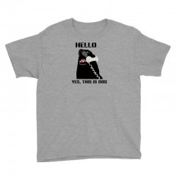hello yes this is dog telephone phone Youth Tee | Artistshot