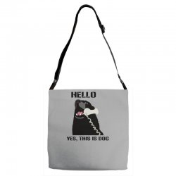 hello yes this is dog telephone phone Adjustable Strap Totes | Artistshot
