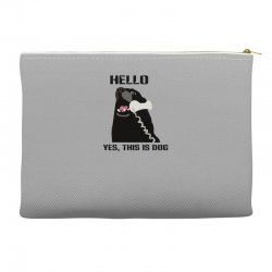 hello yes this is dog telephone phone Accessory Pouches | Artistshot
