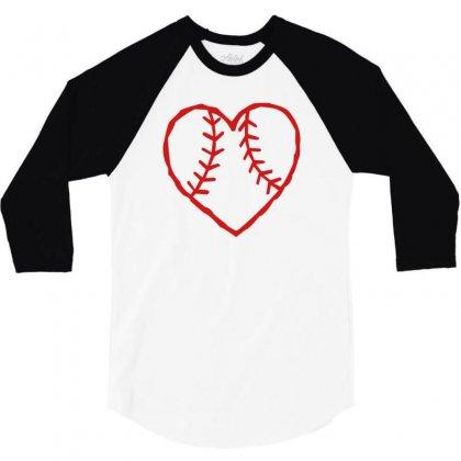 Heart 3/4 Sleeve Shirt Designed By Mdk Art