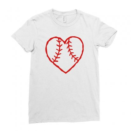 Heart Ladies Fitted T-shirt Designed By Mdk Art