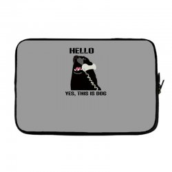hello yes this is dog telephone phone Laptop sleeve | Artistshot