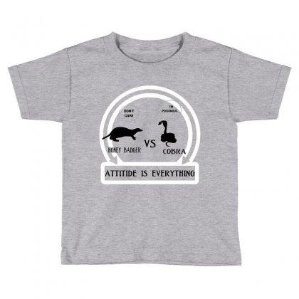 Honey Badger Vs Cobra Attitude Is Everything Toddler T-shirt Designed By Mdk Art