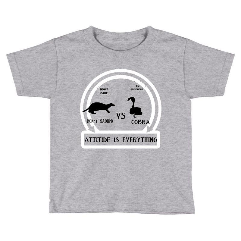 Honey Badger Vs Cobra Attitude Is Everything Toddler T-shirt | Artistshot