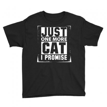 Just One More Cat I Promise Youth Tee Designed By Sabriacar