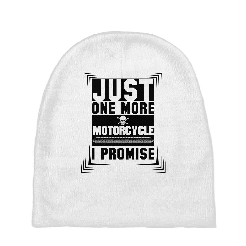 602bcbe3bb8 Custom Just One More Motorcycle I Promise Baby Beanies By ...