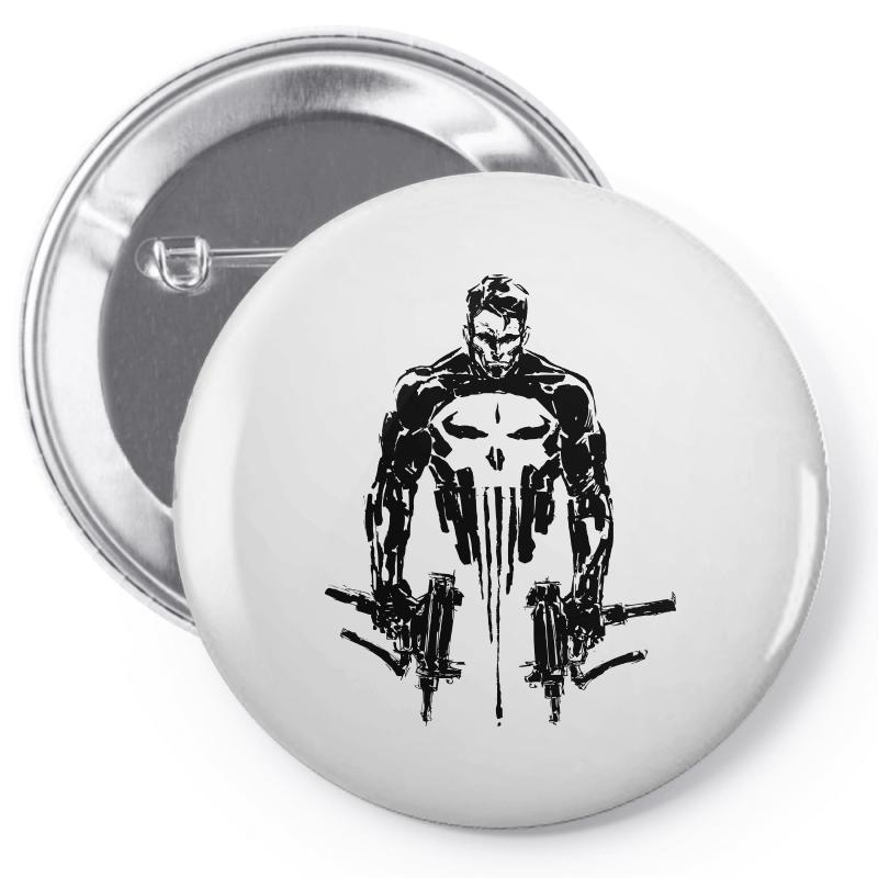 5a10f963b0e3c Custom Punisher Pin-back Button By Sbm052017 - Artistshot
