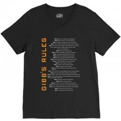 Gibbs's Rules V-Neck Tee | Artistshot