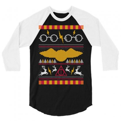 Harry Potter Ugly Sweater 3/4 Sleeve Shirt Designed By Tshiart