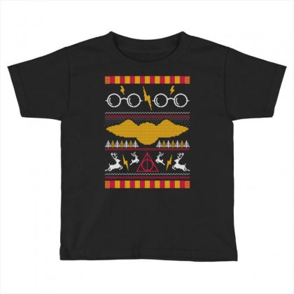 Harry Potter Ugly Sweater Toddler T-shirt Designed By Tshiart