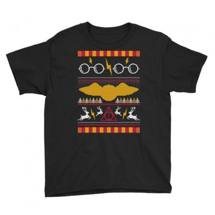 Harry Potter Ugly Sweater Youth Tee Designed By Tshiart