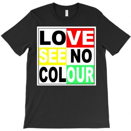 Love See No Colour T-shirt Designed By Mdk Art