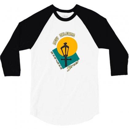 New Orleans Bourbon 3/4 Sleeve Shirt Designed By Mdk Art
