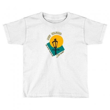 New Orleans Bourbon Toddler T-shirt Designed By Mdk Art