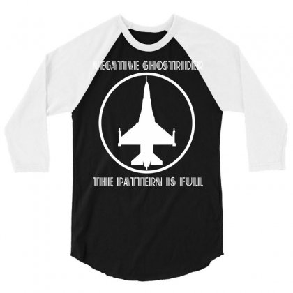 Negative Ghostrider The Pattern Is Full 3/4 Sleeve Shirt Designed By Mdk Art