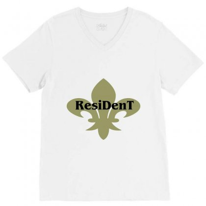 Resident V-neck Tee Designed By Mdk Art