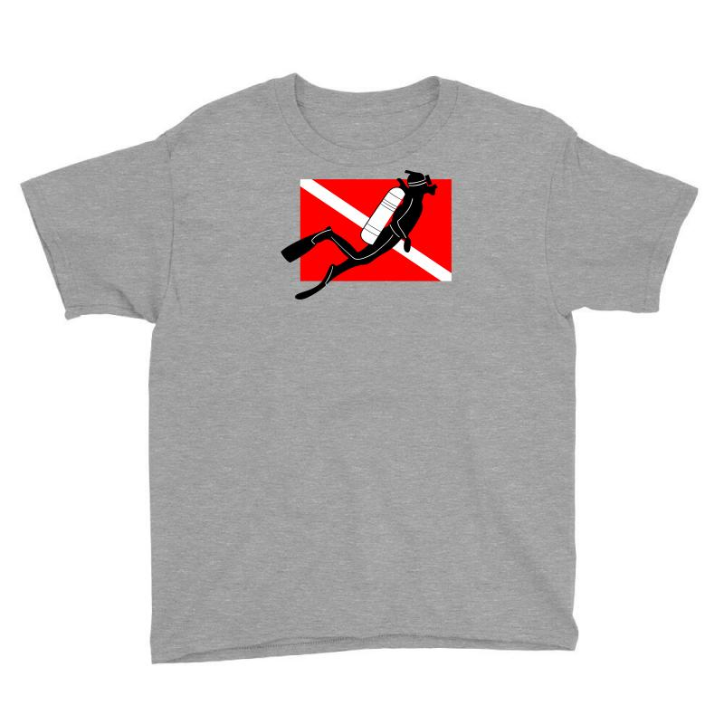 USA Scuba Diving Flag Children Boys Short-Sleeved T Shirt